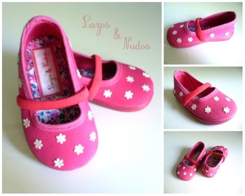 Zapatillas Fucsia Flores