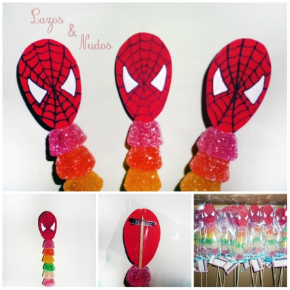 Brochetas Spiderman
