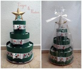 Tarta de pañales navidad