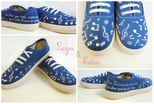 Zapatillas Musicales azules