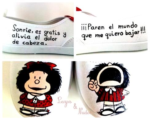 Zapatillas Mafalda Blancas